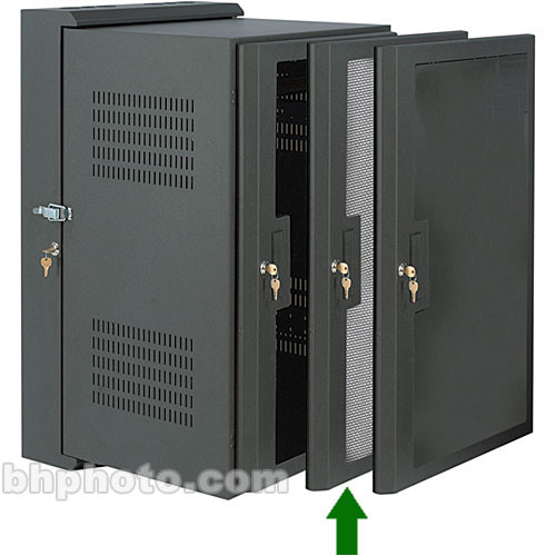 Raxxess SWRD-24P Perforated Front Rack Door