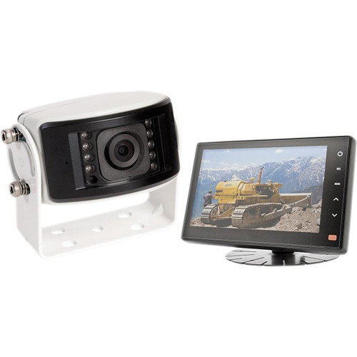 Rear View Safety RVS-1212 Camera System One Camera Setup with Flushmount Monitor
