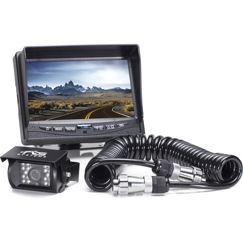 "Rear View Safety Backup Camera System with 7"" Monitor and Trailer Tow Quick Connect Kit"