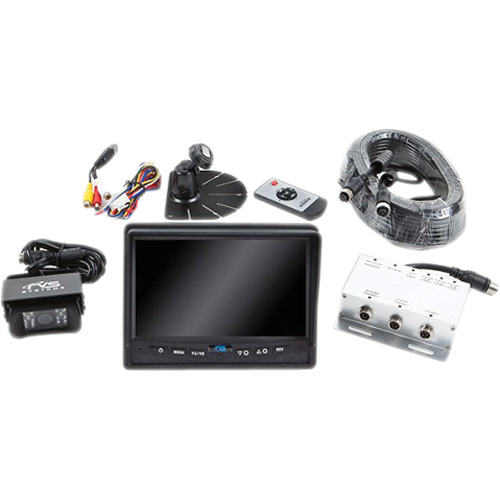 "Rear View Safety 540TVL Backup Camera System with 7"" Flush Mount Monitor (Black)"