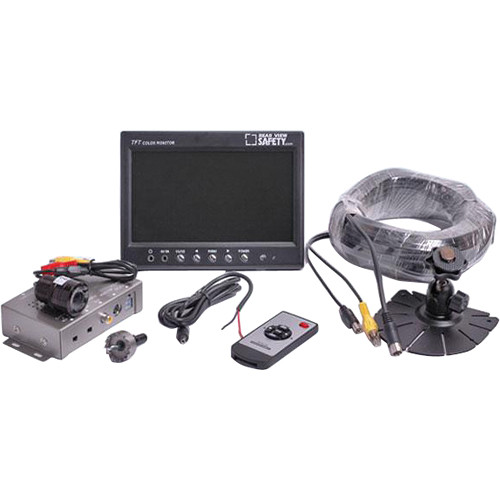 "Rear View Safety RVS-7707721 One Flush Mount Camera System with 7"" Display"