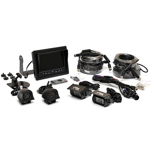 "Rear View Safety Four-Camera Backup System with 7"" Flush Mount Monitor"