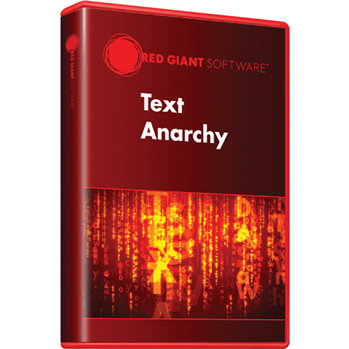 Red Giant Text Anarchy (Download)