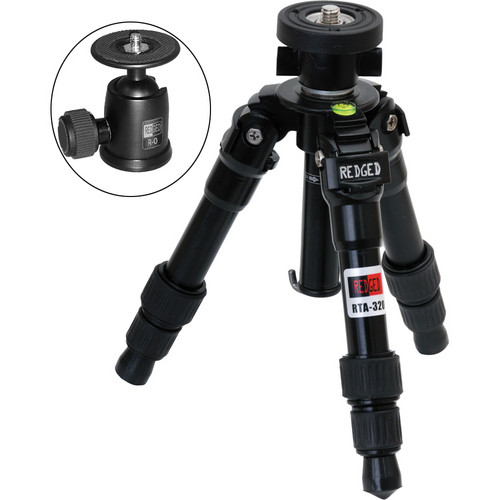 Redged RTA-320 3-Section Aluminum Macro Tripod with R-0 Ball Head