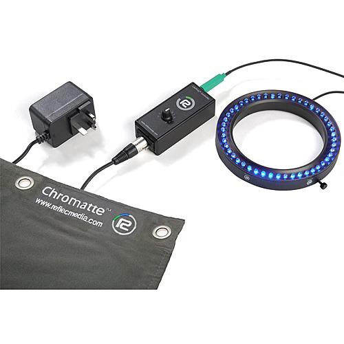 Reflecmedia Deskshoot 8 x 8' LiteRing Bundle (Medium, Blue) (Medium - 112mm Internal Diameter)