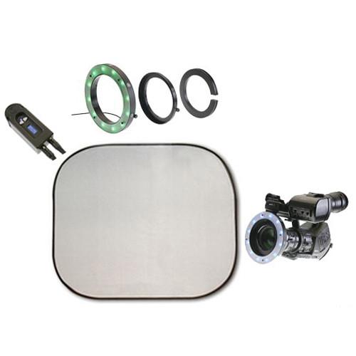Reflecmedia RM 2123DM 4.0 x 4.0' Chromaflex EL Bundle with Medium Dual LiteRing and Controller