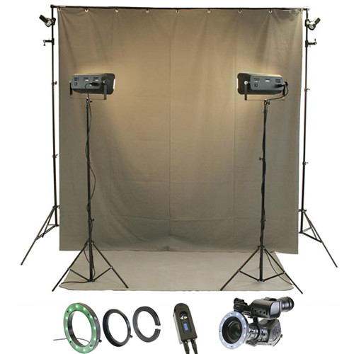 Reflecmedia RM 7227DM 7.0 x 12' Wideshot All In One Bundle with Medium Dual LiteRing