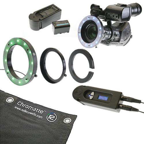 Reflecmedia RM 1122DM 10 x 13' Chromatte Backdrop with Medium Dual LiteRing Kit