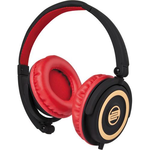 Reloop RHP-5 Cherry Black DJ Headphones w/ Smartphone Mic & Controls