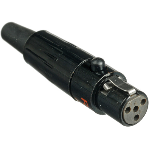 Remote Audio TA4F-B 4-Pin Female Mini-XLR Connector (Black)