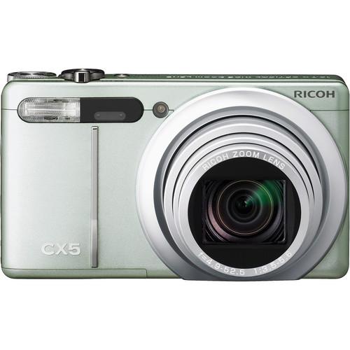 Ricoh CX5 Digital Camera (Green Silver)