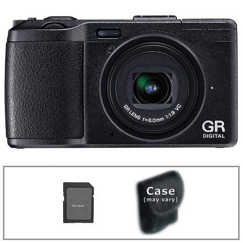Ricoh GR DIGITAL IV Digital Camera (Black) with Basic Accessory Kit