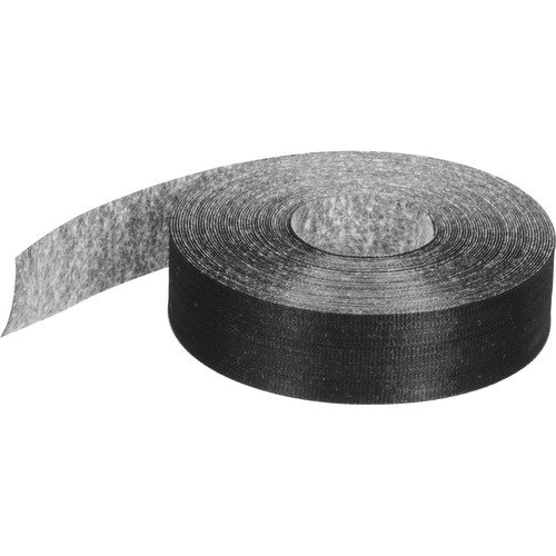 """Rip-Tie RipWrap Non Adhesive Tape, 1"""" x 30' Roll - for Bundling Wires and Cables (Black)"""