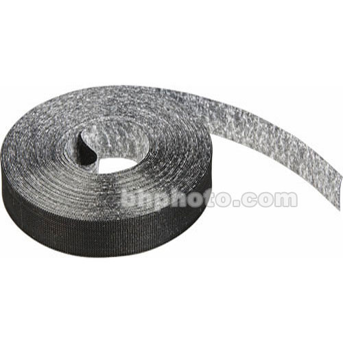 """Rip-Tie RipWrap Non Adhesive Tape, 1"""" x 75' Roll - for Bundling Wires and Cables (Black)"""