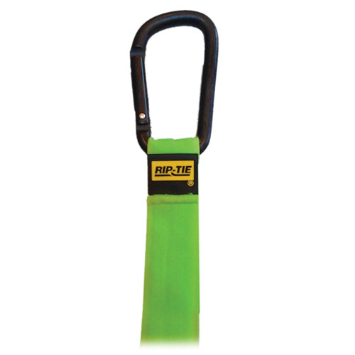 "Rip-Tie Carabiner CableCarrier 1 x 6"" (Neon Green, 50 Pack)"
