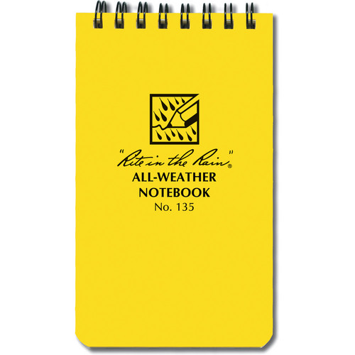 "Rite in The Rain All-Weather Top-Spiral Pocket Notebook (3 x 5"", Yellow)"