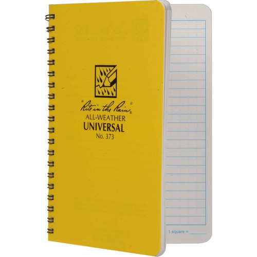 """Rite in The Rain All Weather Spiral Notebook With Universal Page Pattern - 4.6 x 7"""""""