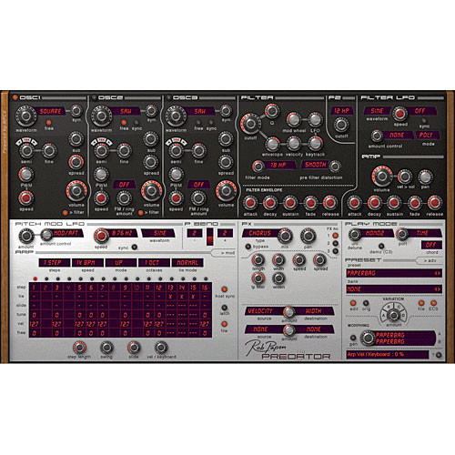 Rob Papen Predator - Virtual Synthesizer Plug-In (Download)