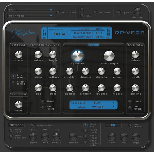 Rob Papen RP-Verb - Reverb Plug-in Software
