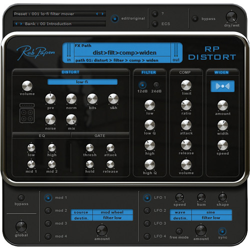 Rob Papen RP-Distort - Distortion and Effects Plug-In