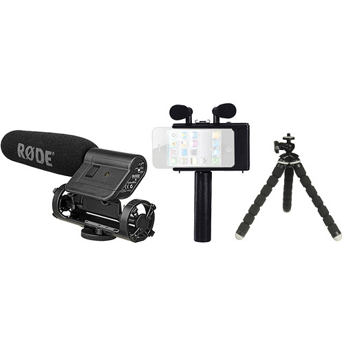 Rode Fostex AR-4i Audio Interface for iPhone 4/4S & iPod touch 4G with Rode VideoMic & Tiny Grip Flexible Tripod B&H Kit