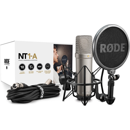 Rode NT1-A Large Diaphragm Condenser Microphone (Single)
