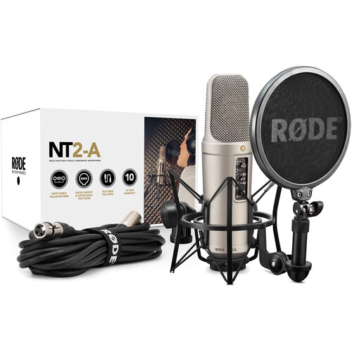 Rode NT2-A Large-Diaphragm Multipattern Condenser Microphone