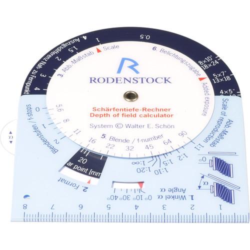 Rodenstock Depth of Field Calculator
