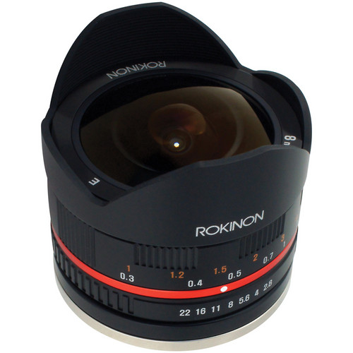 Rokinon 8mm f/2.8 UMC Fish-Eye Lens for Samsung NX Mount - Black