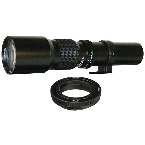 Rokinon 500mm f/8.0 Telephoto T-Mount Lens with Canon Lens Adapter