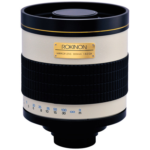 Rokinon 800mm f/8.0 Mirror T-Mount Lens (Tan)
