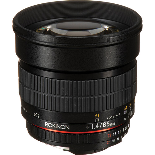 Rokinon 85mm f/1.4 AS IF UMC Lens for Nikon F with AE Chip
