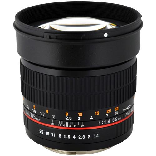 Rokinon 85mm f/1.4 AS IF UMC Lens for Samsung NX Mount