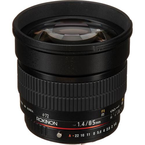 Rokinon 85mm f/1.4 AS IF UMC Lens for Pentax K