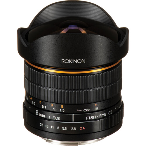 Rokinon 8mm f/3.5 Fisheye Lens for Canon EF