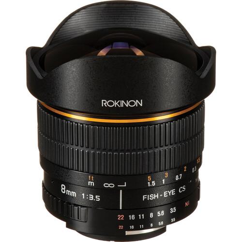 Rokinon 8mm f/3.5 Fisheye Lens for Nikon F