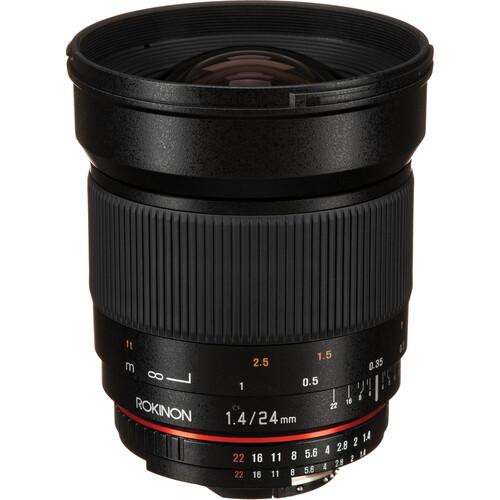 Rokinon 24mm f/1.4 ED AS UMC Wide-Angle Lens for Nikon