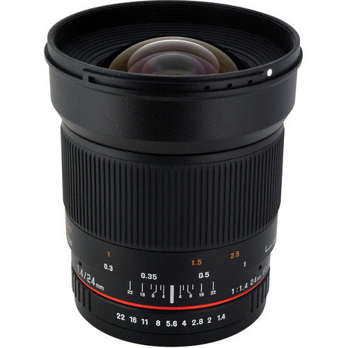 Rokinon 24mm f/1.4 ED AS UMC Wide-Angle Lens for Pentax