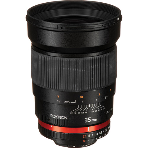 Rokinon 35mm f/1.4 AS UMC Lens for Nikon F (AE Chip)