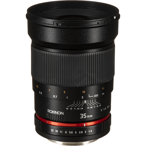 Rokinon 35mm f/1.4 AS UMC Lens for Canon EF