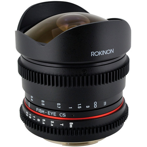 Rokinon 8mm T/3.8 Fisheye Cine Lens for Canon