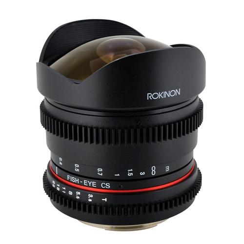 Rokinon 8mm T/3.8 Fisheye Cine Lens for Nikon