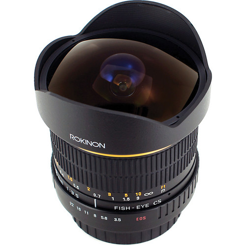 Rokinon 8mm Ultra Wide Angle f/3.5 Fisheye Lens for Samsung NX Camera