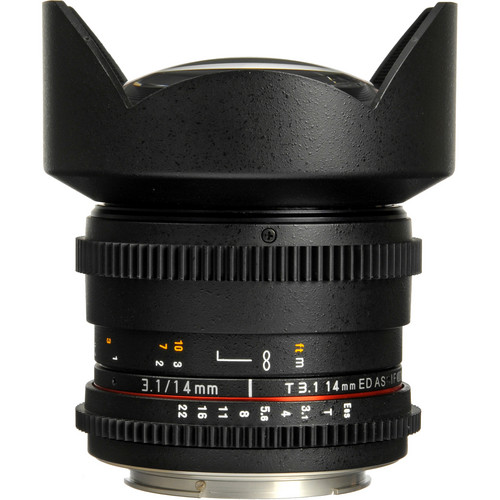 Rokinon 14mm T3.1 Cine ED AS IF UMC Lens for Canon EF Mount
