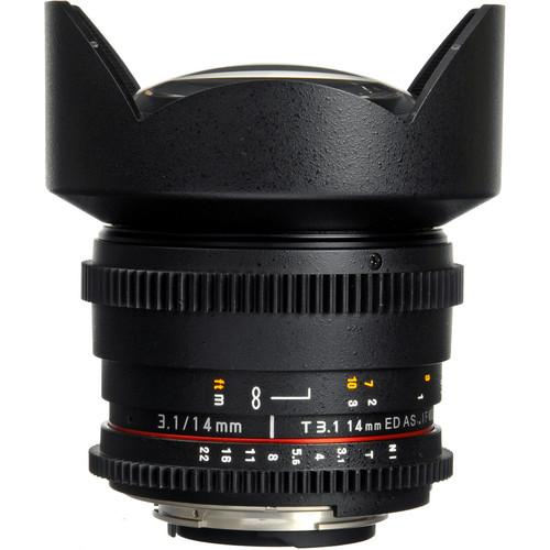 Rokinon 14mm T3.1 Cine ED AS IF UMC Lens for Nikon F Mount