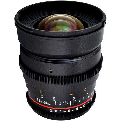 Rokinon 24mm T1.5 Cine ED AS IF UMC Lens for Nikon F Mount