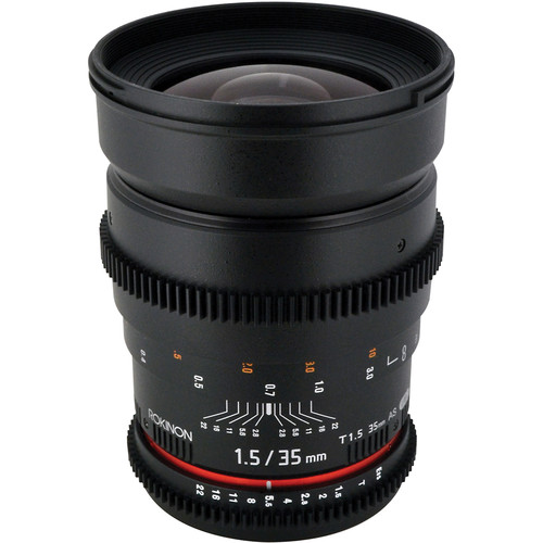 Rokinon 35mm T1.5 Cine AS UMC Lens for Canon EF Mount