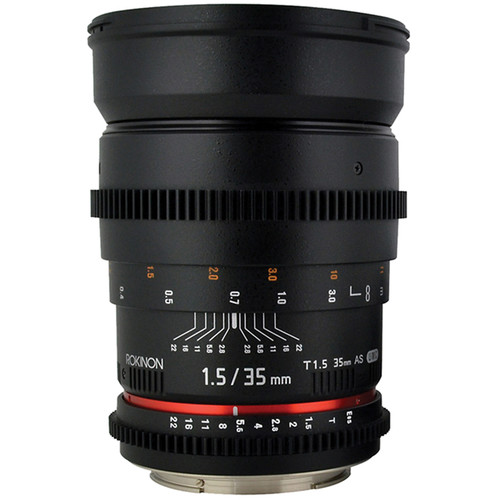 Rokinon 35mm T1.5 Cine AS UMC Lens for Sony E Mount