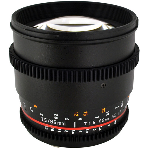 Rokinon 85mm T1.5 Cine Lens for Nikon F