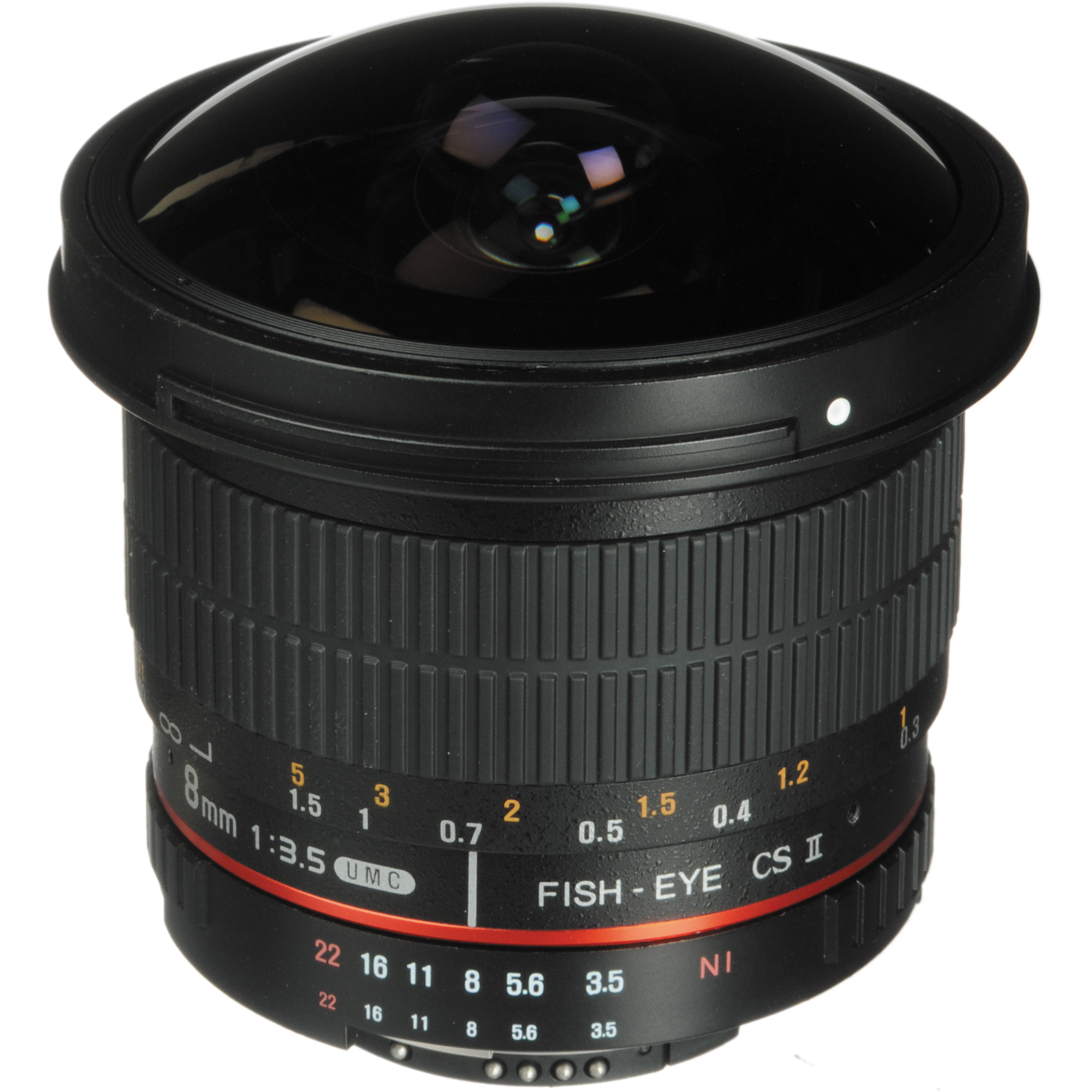 Rokinon 8mm f/3.5 HD Fisheye Lens with Removable Hood for Nikon